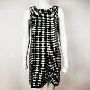 ANN TAYLOR LOFT Black White Sleeveless Dress 12P